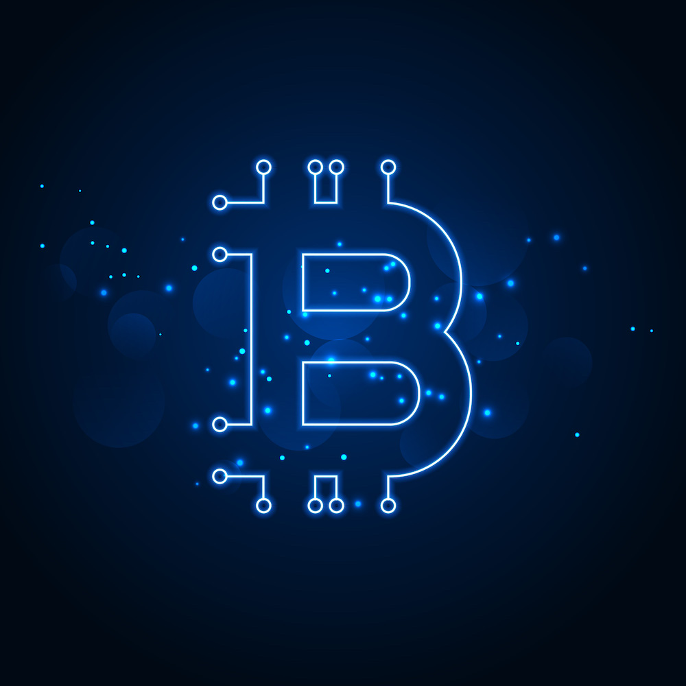bitcoin technology network digital background